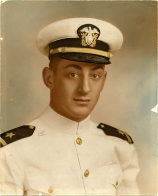 Portrait of Harvey Milk in Navy uniform, between 1953 and 1954