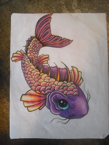 This is the koi fish I sketched up for a tattoo on a friend. It's a girl :]