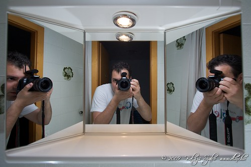 Self-self-self-mirror portrait in Melide