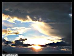 Sunset Over The Sangre De Cristos (Steve Herrera30) Tags: light sunset sun newmexico santafe nature colors beautiful beauty clouds canon photography natural powershot thunderstorm picnik herrera a560