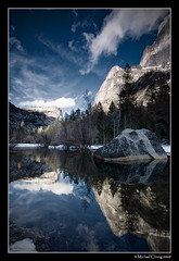 Mirror, mirror... (Mike Chong) Tags: winter sky snow mountains reflection water clouds canon landscape nationalpark mirrorlake wideangle yosemite yosemitenationalpark 1022mm gnd 40d ndgradfilter superaplus aplusphoto alemdagqualityonlyclub alemdaggoldenaward peregrino27newvision