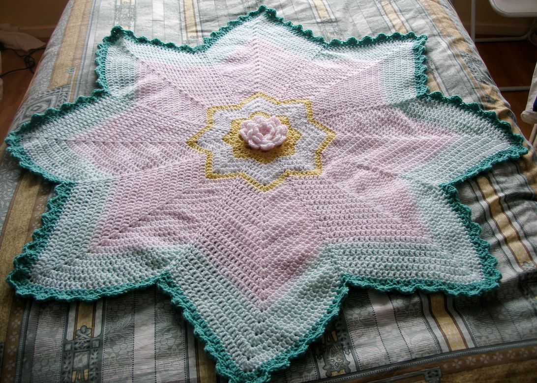 Flower snuggle blanket