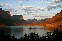 Wild Goose Sunrise (BigSkyKatie) Tags: park morning wild sun lake mountains clouds sunrise rockies island rising montana mary rocky goose glacier national glaciernationalpark wilderness stmarylake pristine bigskycountry naturesfinest subalpine wildgooseisland katielasallelowery