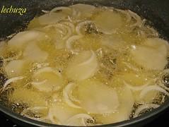 Sardinas rellenas-Patatas y cebolla