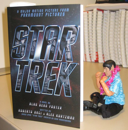 Spock reads ST novel