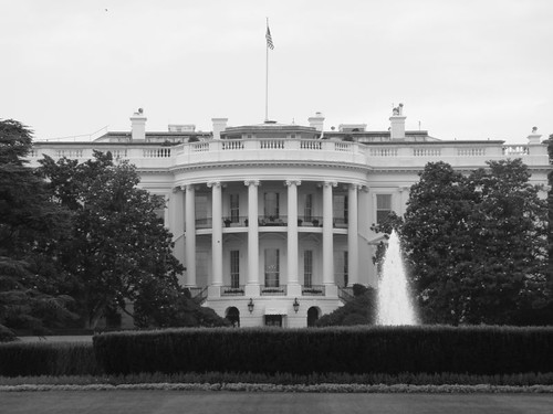 The White House, in b/w