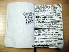 Echo '09 Sketchnotes - Conference Debrief (Joshua Blankenship) Tags: moleskine sketchnotes echo09