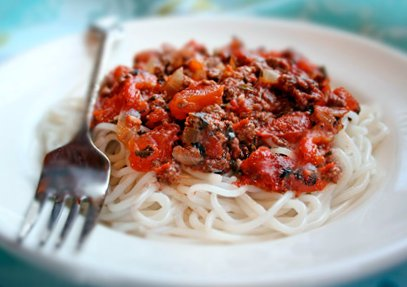 Gluten-Free Spaghetti with Meat Sauce Recipe