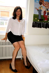 Getting Ready for Work... (tgirl-katie) Tags: home asian tv cd chinese skirt tgirl transgender tranny casual transexual transgendered crossdresser ts tg transsexual ladyboy whiteshirt workclothes  m2f blackskirt trangendered     newhalf