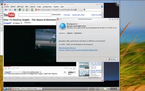 Youtube dans Konqueror et la Slackware 13.1 rc1