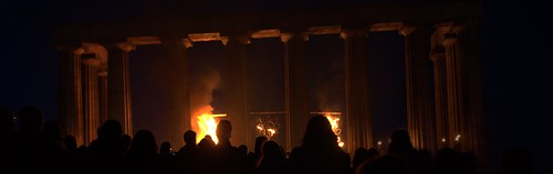 Beltane Pillars Panorama by adq_uk