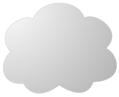 grey cloud shaded clipart sketch lge 14 cm op