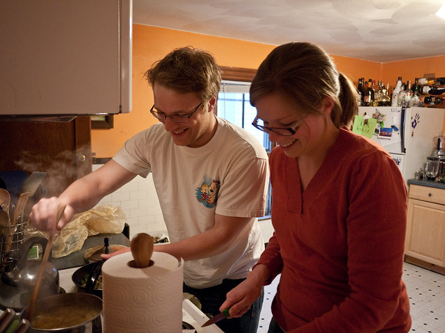 Autumn and Jeff Cooking