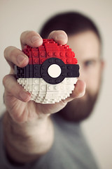 Brikachu, I Choose You! (powerpig) Tags: lego pokemon silliness pokeball