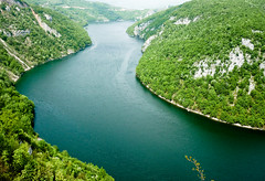 Hello Bosnia! (marin.tomic) Tags: wood travel green water river europe view bosnia panasonic steep gettyimages bih bosna bosnian vrbas