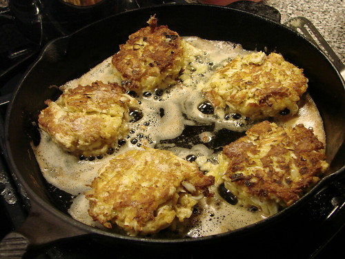 Panfull of Crab Cakes