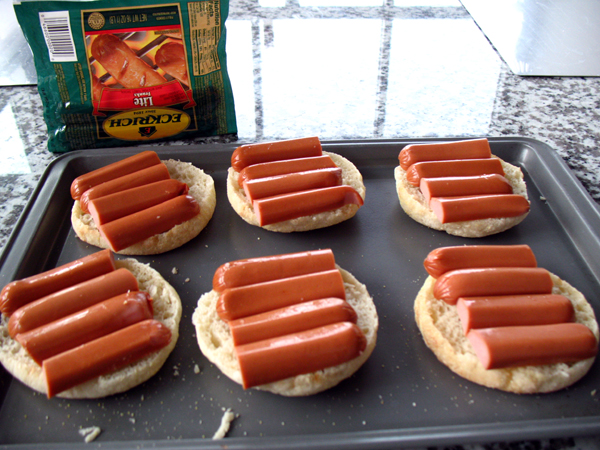 hotdog english muffins