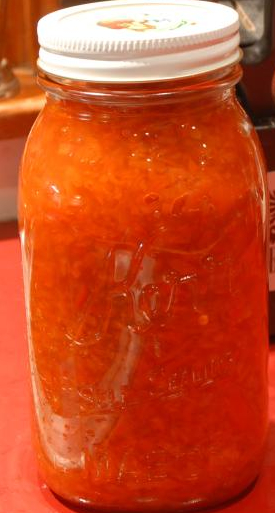 The finished product: Sweet Red Bell Pepper Relish