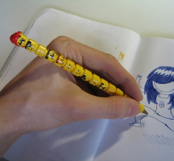 Lego minifig head pen