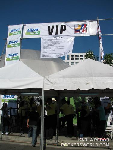 VIP Entrance to Eraserheads Concert