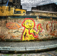 Cuidado Com os Homens de Gravata | HDR (Omar Junior) Tags: street sky urban fish streetart color building muro art texture textura colors yellow wall brasil buildings cores geotagged graffiti high mural colorful paint arte dynamic angle pentax d painted graf murals style spray fisheye amarelo junior imaging spraypaint recife graffito graff pe scratched omar mapping ist range cor tone hdr pernambuco parede pentaxistd hdri mapped rec antigo grafite marked lucisart photomatix grf scrawled highdynamicrangeimaging graffitibrasileiro graffitifotos geo:lat=8061099 geo:lon=3487215
