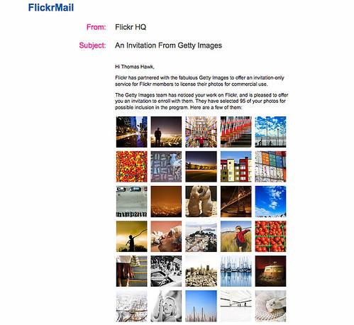 Getty Flickr invite