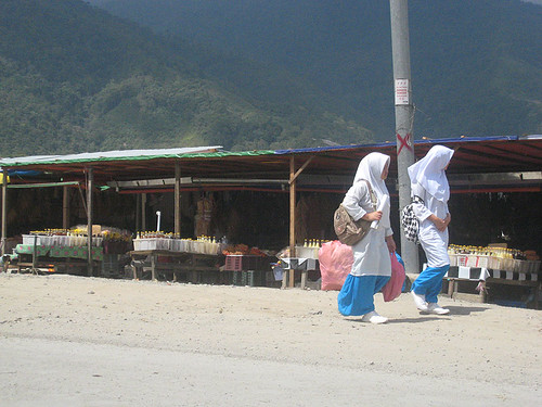 School Girls in Kundasang