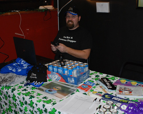 The giveaway table