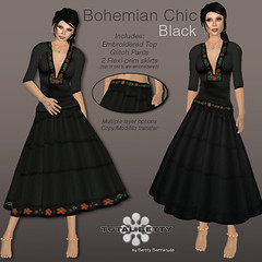 Total Betty *Bohemian Chic* Black (Betty Bee) Tags: totalbetty rflinsl clothingfair09