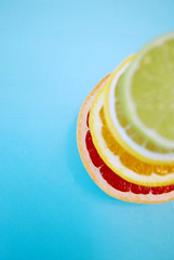 (ClaireShannon) Tags: blue summer orange colour colors fruits fruit project fun lemon turquoise obsession days stack seven grapefruit citrus 365 lime