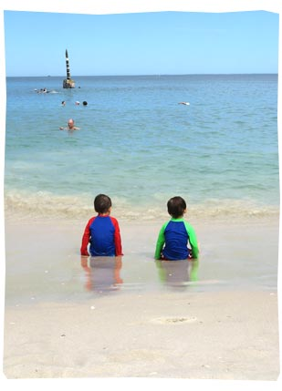 Boys at Cottesloe Beach