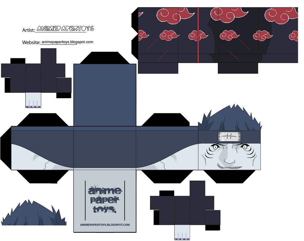 Muñecos armables de Naruto y Naruto Shippuden [papercraft]
