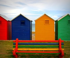 The Beach Huts of Fish Hoek (Sandra Leidholdt) Tags: africa new beach bench southafrica seaside colorful couleurs african structures huts explore afrika colourful za beachhuts falsebay fishhoek westerncape freshpaint afriquedusud zuidafrika explored sandraleidholdt changinghuts leidholdt sandyleidholdt