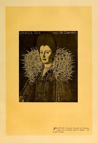 002-Cuello de encaje probablemente de Ragusa siglo XVI