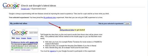 google experimental 2