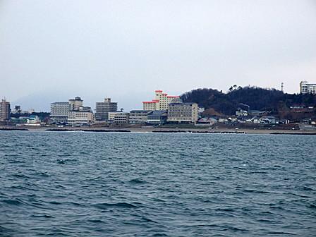 瀬波温泉~船からの景色