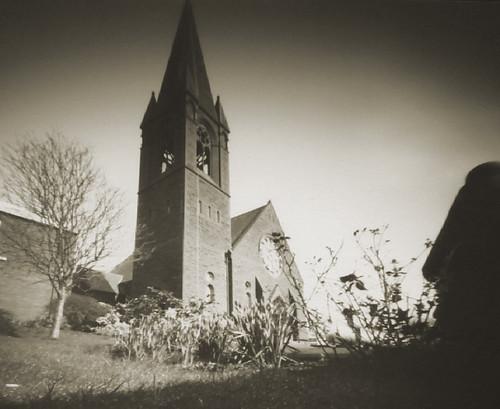 Pinhole ortho lith St Andrews church 31Mar08