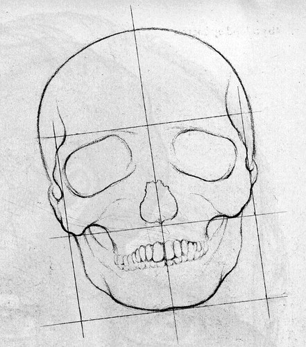 faces to draw. How to Draw a Face - the skull