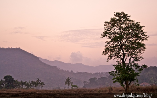 A beautiful sunset at Coorg