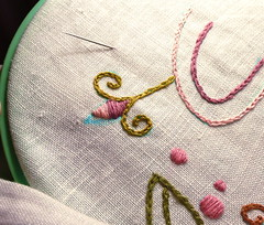 Linen Embroidery Floss Project