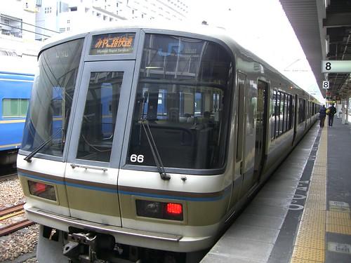 """221系みやこ路快速/221 series """"Miyakoji"""" Rapid Service train"""