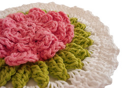 DSC08628 (Lallee) Tags: rose handmade crochet yarn dishcloth cotton cottagestyle lalleescottage
