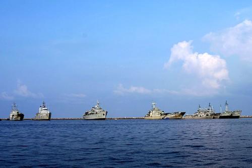 KRI Teluk Sirebon (543), KRI Leuser (924), KRI Dewa Kembar (932), KRI Teluk Menado (537), KRI Pulau Raibu (728), KRI Pulau Rote (721), KRI Balikpapan (901), KRI Karimata (960)