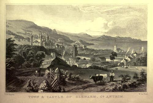 014- Pueblo y castillo de Glenarm en el condado de Antrim Irlanda