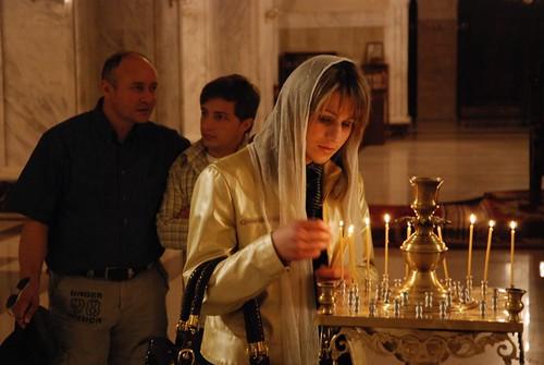 In Biserica Mare Ortodoxa din Tbilisi, Georgia
