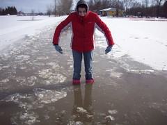 I could go no further. (legallyglinda) Tags: road stuck boots flood 2009 tooshort westfargo sheyenneriver