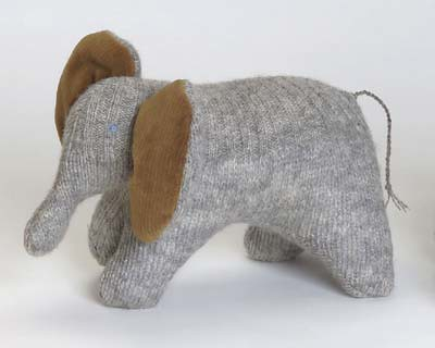 Recycled Elephant Toy