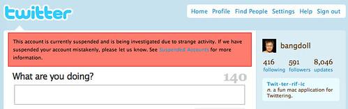 我的推特帳號被暫停使用