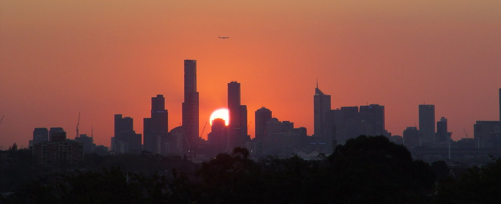 ? Mebourne Airplane Sunset