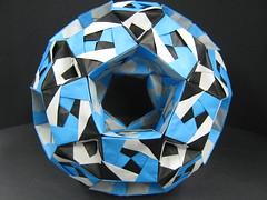 5) Sonobe Rhombicosidodechahedron (Modular Origami) (Origami Tatsujin 折り紙) Tags: art colors paper paperart origami geometry modular sonicboom fold create multicolored japaneseart papiroflexia module papercraft unit papercrafts polyhedra modularorigami おりがみ multidimensional 折り紙 sonobe geometricbeauty geometricart cooperativelearning colorfulart tetrahedralsymmetry analyticalgeometry origamitutorial modularorigamiorigami rhombicosidodechahedron mathematicsofpaperfolding mathematicsorigami origamitechniques
